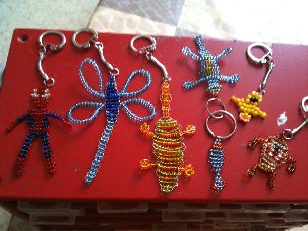 Porte clefs en perles - Fabriquer un porte clef ...